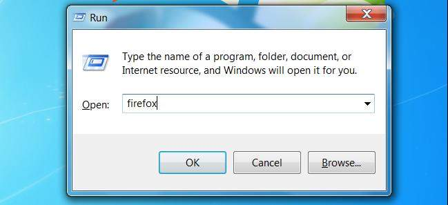 quickly open programs in windows 7