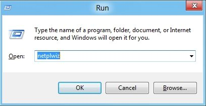 log in without username or password in Windows 8