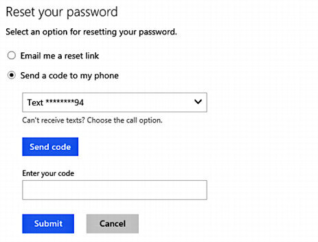 forgot my microsoft account password