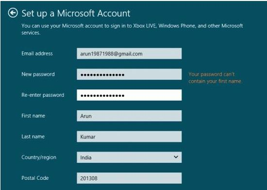 Switch from local account to Microsoft account