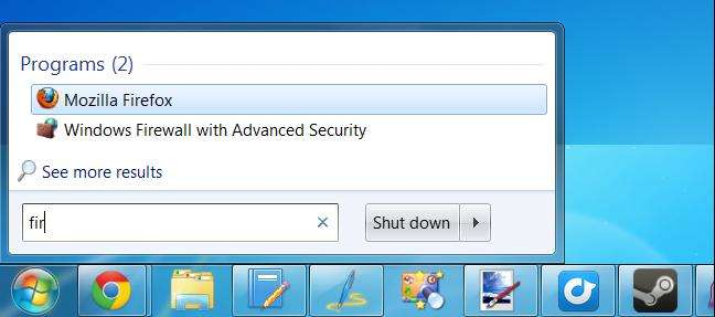 quickly launch programs in windows 7