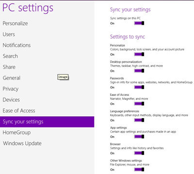 Select a Microsoft account or local account in Windows 8