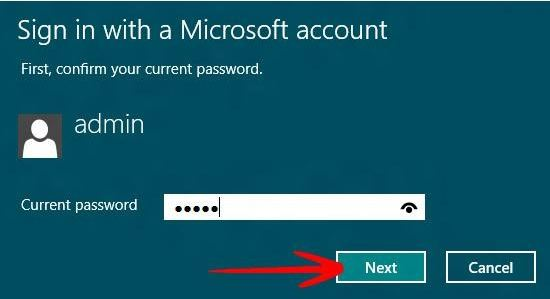 switch to local user account in Windows 8