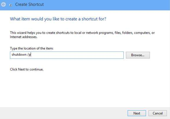 create a reboot tile in windows 8
