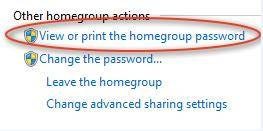 view windows 7 homegroup password