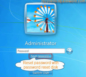windows 7 administrator password reset disk