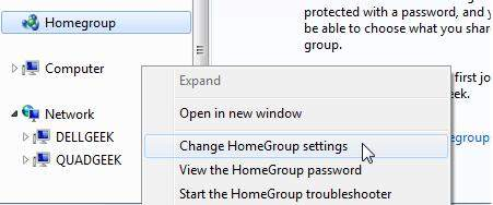 how to disable homegroup feature in windows 7