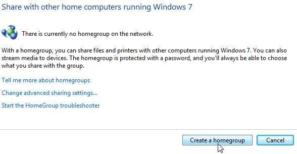 enable homegroup in windows 7