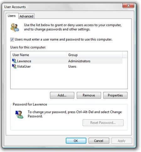 turn off windows 7 admin password