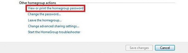 homegroup password reset windows 7