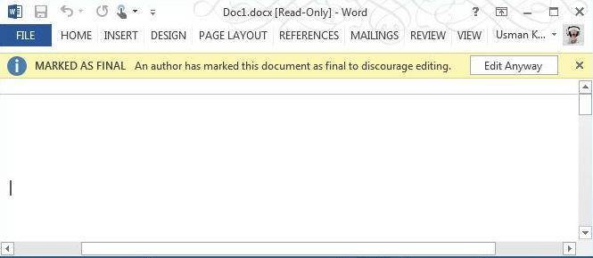 how to protect document in word 2013 document