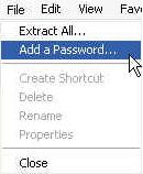 how to encrypt a zip file