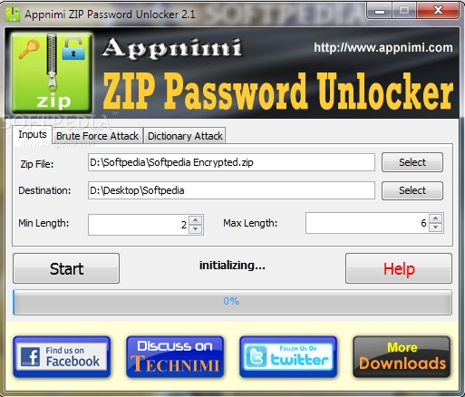 ZIP password recovery freeware