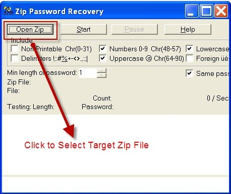 crack password zip file windows 7