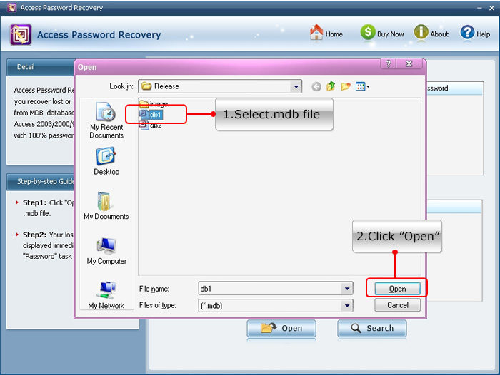 recover access 2013 password