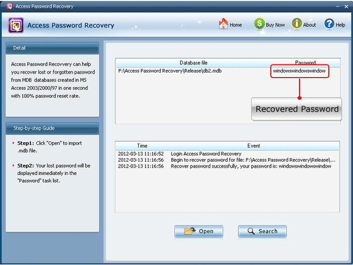 ms access 2013 password recovery