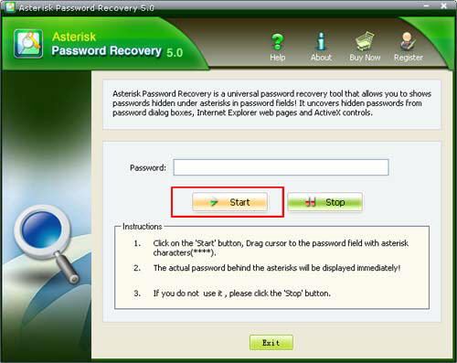 get Asterisk Password
