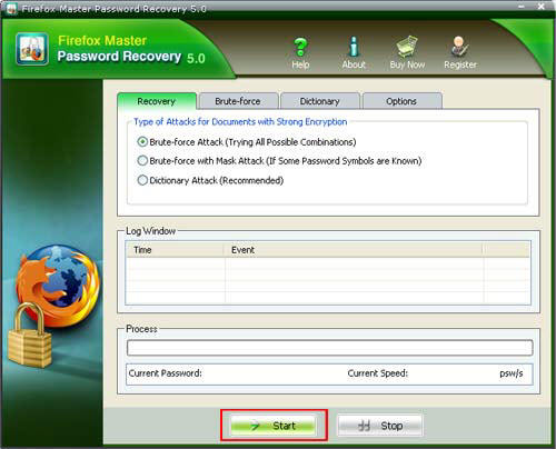 recover Firefox Master Password