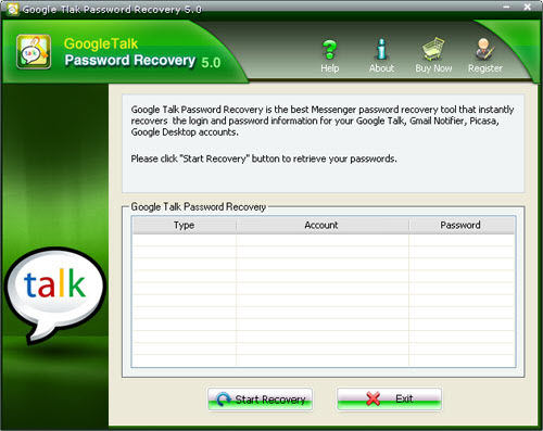 How to recover Google Talk passwords with Google Talk
