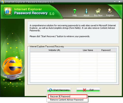 Recover Internet Explorer Password