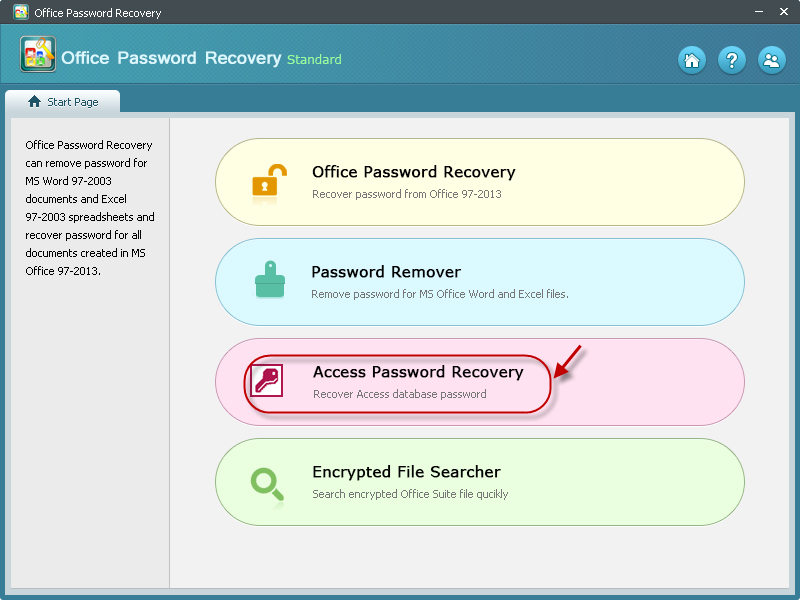 recover access password