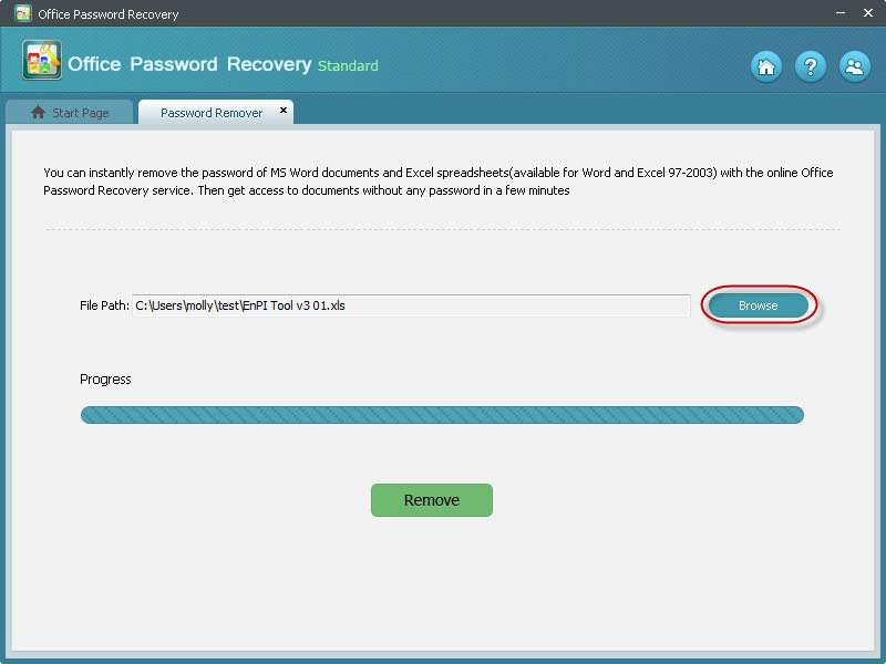 recover office password