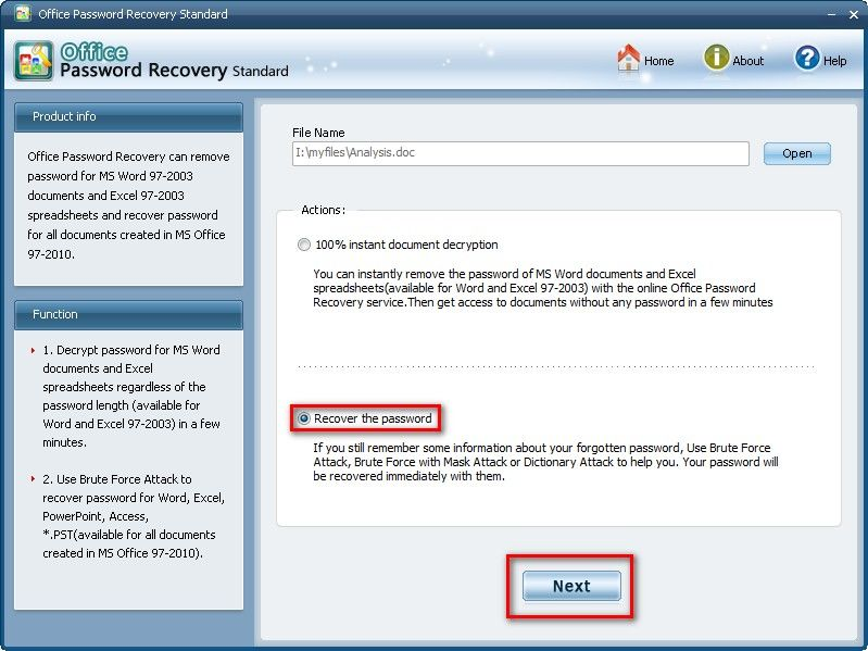 ms excel 2013 password recovery