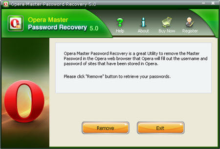 Opera Master Password Recovery