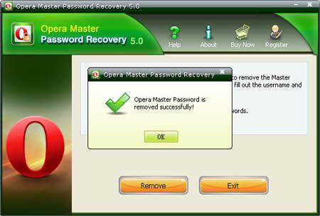 Remove Opera Master Password