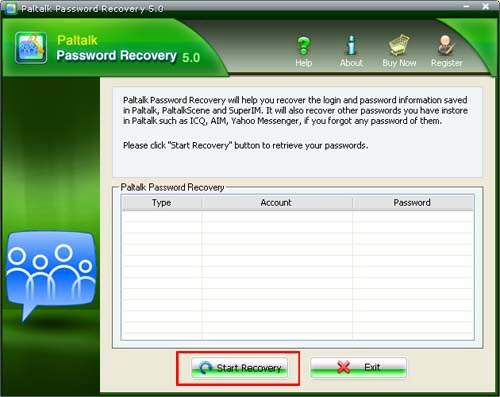 Recover Paltalk Password