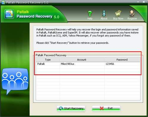 Paltalk Password Showed