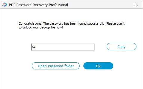 recover password successfully
