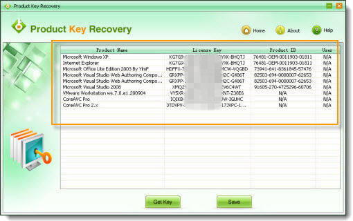 microsoft licence key finder