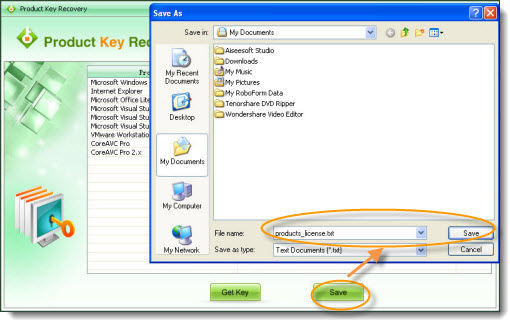 how to find ms office 2010 product key in system