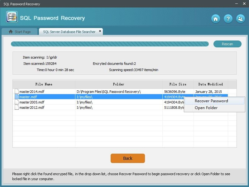 how to recover sql password