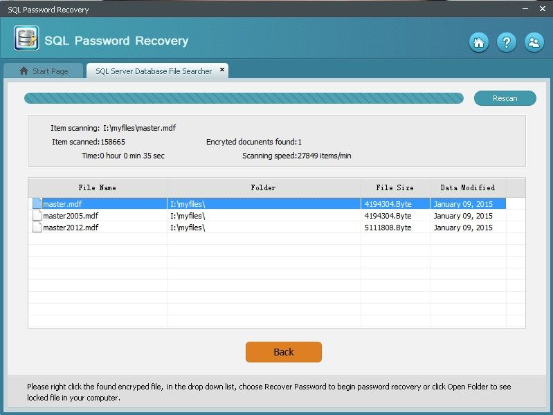 reset sql password