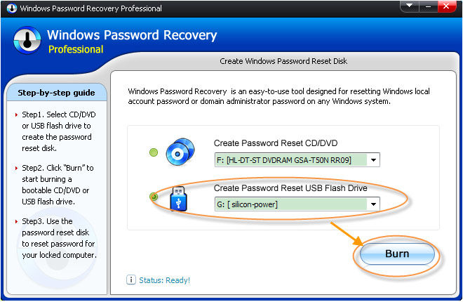 windows password reset cd/dvd