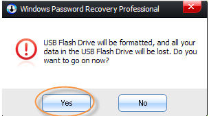 burn Password Recovery disk