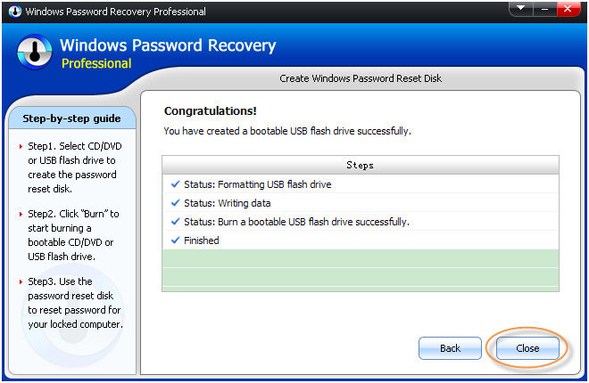 windows Password Recovery completely