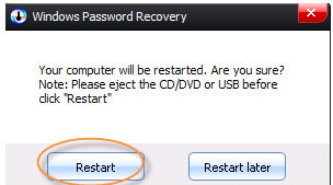 administartor password reset