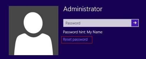 reset windows 8 administrator password