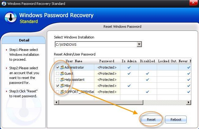 reset windows 8.1 login password