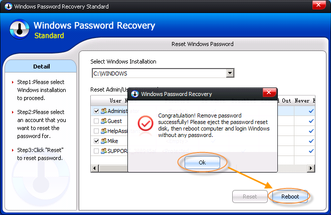 remove Alienware Windows 7 administrator password