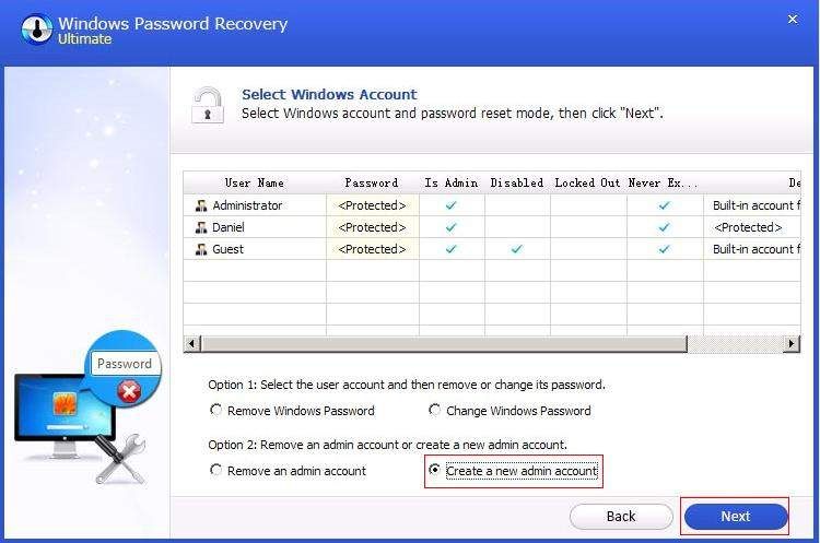 remove windows account