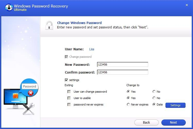 how to change password on surface pro