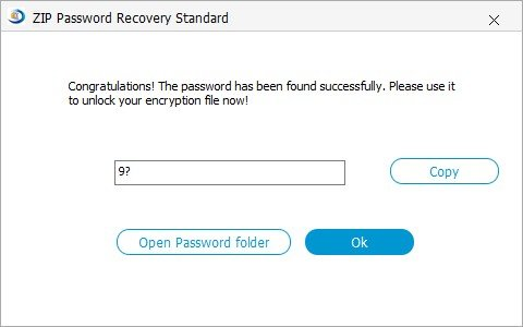 recover zip password
