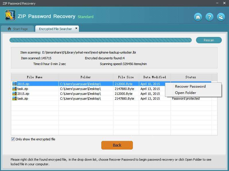 how to recover password for zip