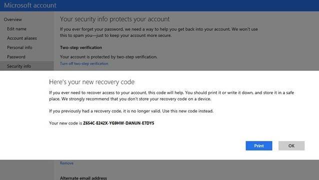 microsoft account receives new security features