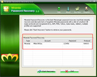 Recover Miranda Password