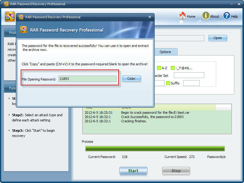 rar password recovery professional registration code